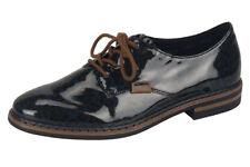 Ladies' Casual Lace Up Shoes Rieker 50614 - 90 Black Combi EU Size 38 (UK 5)