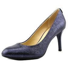 Michael Kors MK Flex Navy Sparkle Metallic Leather PUMPS HEELS Shoes 8 10