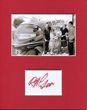 Bob Gurr Disneyland Monorail Disney Imagineer Signed Autograph Photo Display