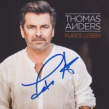 "THOMAS ANDERS ""Pures Leben"" CD ALBUM original signiert IN PERSON Autogramm NEU"