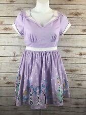 Alice In Wonderland Dress Large Tea Party Rockabilly Disney Retro Swing Purple