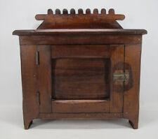 """Antique Miniature Single Door Pine Cupboard / Cabinet / Dry Sink 21""""x20""""x11"""" yqz"""