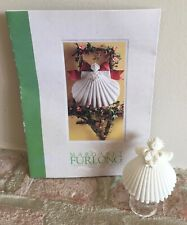 Margaret Furlong Miniature Shell Ornament: Angel with Wreath, 1995 with stand