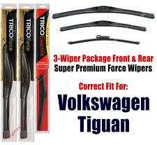 Wiper Blades Trico 3-Pack Front/Rear fits 2009+ Volkswagen Tiguan 25240/210/13g