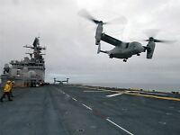 MILITARY AIR CRAFT CHOPPER NAVY HELICOPTER V22 OSPREY USS IWO JIMA POSTER BB907A