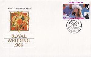 (21285) Montserrat FDC Prince Andrew Fergie Royal Wedding 1986