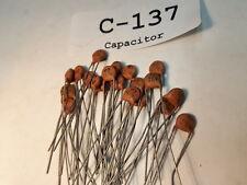 Capacitor Ceramic Centralab, 47 pF, 3 KV, 20%, Lot of 20 (NOS) C137