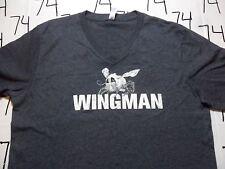 Large- NWOT Jack Daniels Honey V Neck Wingman T- Shirt