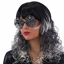 Spider Web Party Glasses Plastic Fancy Dress Halloween Steampunk Goggles Specs