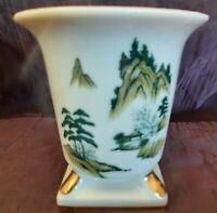 Porcelain Bud Vase Gold Trim ~ Hand Painted Japan ~  Small 3 1/4 inches VTG
