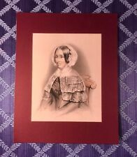 Exceptional Circa 1849 American Graphite Portrait of a Woman Signed John Read
