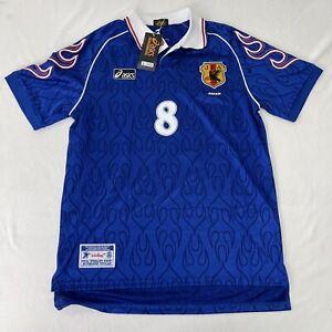 Rare Original Asics Japan Home 1998 Maglia Camisa Jersey Soccer Shirt #8 NAKATA