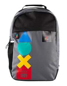 Playstation Backpack Spring Retro Logo console buttons new Official Grey One