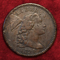 1794 FLOWING HAIR CENT, HEAD OF 94 S-46 R-3 BN, HIGHER GRADE! *VF-XF* DETAILS!