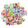 50pcs Mixed Cartoon Animal 2 Holes Wooden Buttons Sewing Craft Scrapbooking DIY