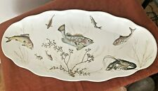 Vtg WAVERLY PRODUCTS Large Melamine Plastic Seafood Platter Salmon Fish