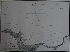 PLAN DE LA BAIE D'ORAN ,1862, GAUTTIER, PLANS PORTS RADES MER MEDITERRANEE