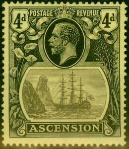 Ascension 1924 4d Grey-Black & Black-Yellow SG15 Fine Mtd Mint