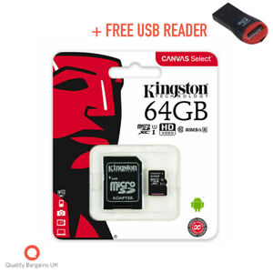 Kingston Micro SD Card SDHC SDXC Memory Card TF Class 10 16GB 32GB 64GB 128GB
