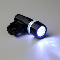 New Black Bike Bicycle 5 LED Power Beam Front Head Light Torch Lamp CU