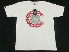 $30 NWT Mens Crooks & Castles T-Shirt Chain C Ceason Tee White Urban Size S M392