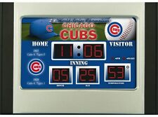 Chicago Cubs Scoreboard Desk & Alarm Clock [NEW] NFL Watch Time Office