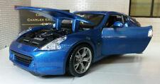 Coche de automodelismo y aeromodelismo color principal azul Nissan