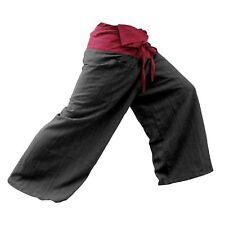 Genuine Thai Men Women Fisherman Wrap Pants Yoga Fishing Trousers Cotton Red HQ