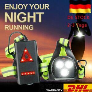 Lauflicht Wiederaufladbare USB Brustlampe LED Lauflampe Joggen Sport Wasserdicht