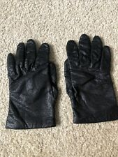 womens black leather driving gloves