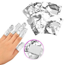 100x Uv Gel Removal Foils With Pads Shellac Nail Art Acrylics Soak Off Wraps GAZ
