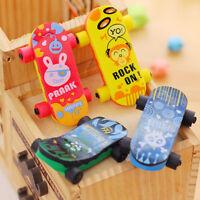 Skateboard Shaped Rubber Pencil Eraser Funny Kid Educational Prize Toy _AU