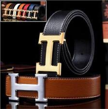 "New Fashion  Hot sell Men's Belts Couple Leather""H"" Buckle Waist Waistband Belt"