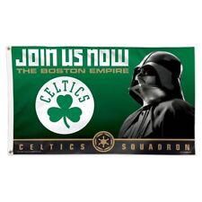 BOSTON CELTICS JOIN US NOW DARTH VADER CELTICS SQUADRON 3'X5' DELUXE FLAG NEW