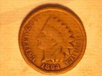 1864 CN INDIAN HEAD PENNY <> G - 1218