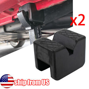 2x Axle Jack Stand Pad Adaptor Sill Damage Protector Slotted Frame Rail 3 Ton US