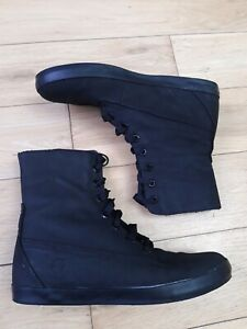 Timberland Earth Keeper Boots Size 7  Black Leather Ankle EU 40  (Small Size 7)