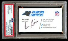 Ron Rivera signed autograph Carolina Panthers Head Coach Business Card PSA Slab
