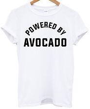 Powered by Avocado T-shirt top Miley vegetable gym kale tumblr mens girls tee
