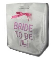 White Bride To Be Hen Party L Plate Diamante Gift Bag