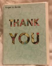 "Roger la Borde 6 Thank You Cards Butterfly 4.5"" X 6.5"" New"