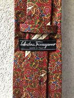 Salvatore Ferragamo Cravatta  Tie Pazo Necktie Silk Soie News
