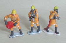 FIREMEN / FIRE CREW FIGURES x 3 for Scalextric Airfix Ninco SCX Fly & More 1.32