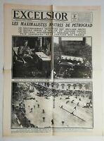 N972 La Une Du Journal Excelsior 9 Novembre 1917 Petrograd