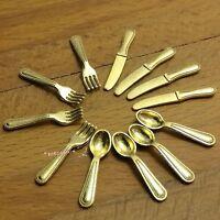 Dollhouse Miniature 1:12 Toy Kitchen 3 pieces Metal Silver Clip Food SPO667