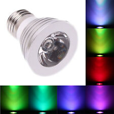 E27 3W LED RGB Magic Bulb 16-Color Changing Spotlight Lamp w/ Remote Control