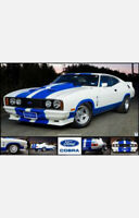 """FORD FALCON XC POSTER - COBRA HARDTOP COUPE - 91 x 61 cm 36"""" x 24"""""""