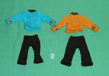 vintage Mego STAR TREK CLOTHES blue yellow shirt pants + TRICORDER parts lot