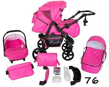 Baby Pram Pushchair Buggy Stroller Carrycot Car Seat Twist 3in1 Travel System