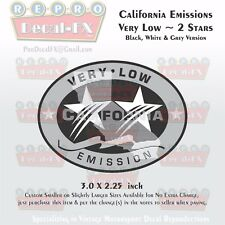 California Emissions Decal Very Low 2 Stars Outboard Evinrude Honda Mercury